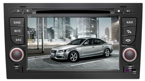 Audi A4 car dvd player  radio with high definition lcd GPS navigation system 1