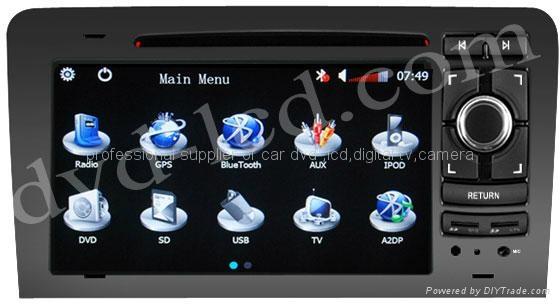 Audi A3 A4 Seat EXEO car dvd player radio  HD LCD GPS navigation system 1