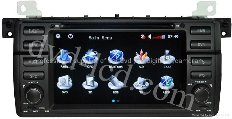 BMW E39 E53 M5 car dvd player  radio high definition lcd GPS navigation system 1