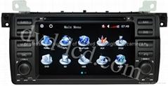 BMW E39 E53 M5 car dvd player  radio high definition lcd GPS navigation system