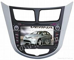 Hyundai Verna car dvd player  radio HD lcd GPS navigation system