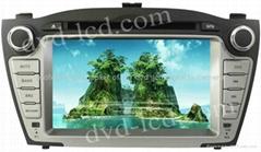 Hyundai IX35 car dvd player  radio HD lcd GPS navigation system