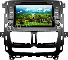 Nissan Qashqai car dvd player  radio HD lcd GPS navigation system