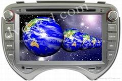 Nissan March car dvd player  radio HD lcd GPS navigation system
