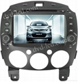 Mazda 2 car dvd player  radio HD lcd GPS