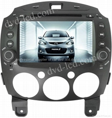 Mazda 2 car dvd player  radio HD lcd GPS navigation system