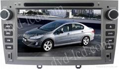 Peugeot 408 car dvd player  radio HD lcd GPS navigation system