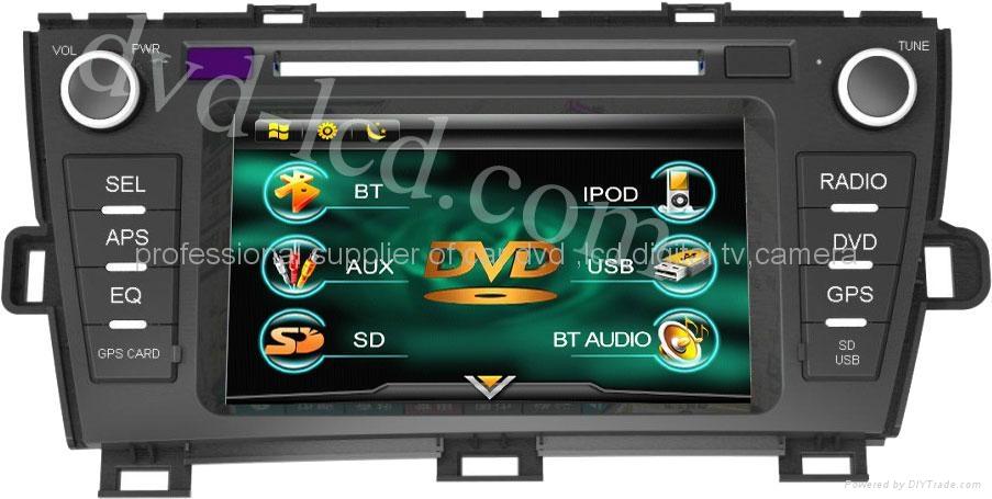 Toyota Prius car DVD player Radio TV GPS navigation system HD LCD Win CE6.0 PIP  1