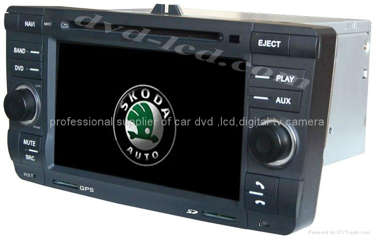 Skoda Octavia car dvd player radio GPS navigation system with PIP Win Ce6.0 1