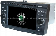 Skoda Octavia car dvd player radio GPS