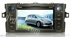 Toyota Auris car dvd player radio GPS navigation system with PIP Win Ce6.0