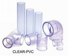 Clear PVC Pipes & Fittings