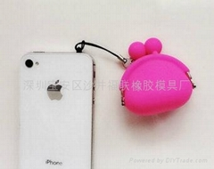 Silicone Mini Coin Purse Dust Plug Charm Headphone Jack Earphone Cap iPhone