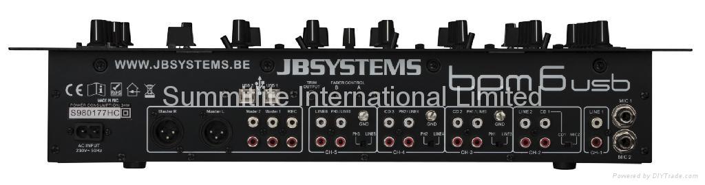 JBSYSTEMS Professional 6-channel DJ mixer -BPM6-USB  2