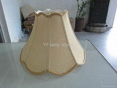 Modern faux silk fabric with braid handmade softback lampshade
