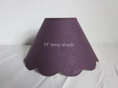 Purple TC fabric lamintaed PS hardback lampshade