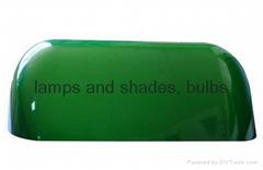 banker glass lamp shade