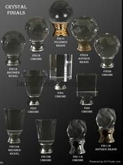 crystal finials