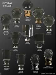different shape crystal finials for table lamp wholesale