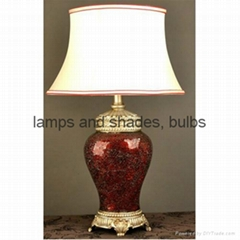 Polyresin and mosaic table lamp