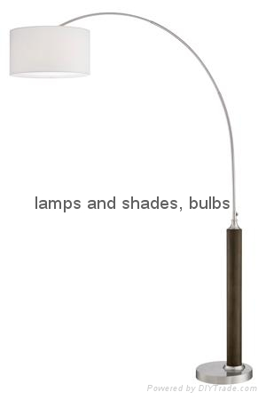 metal wood fishing floor lamp 2