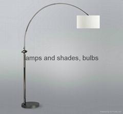 metal fishing floor lamp