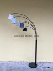 marble metal arc 5arms floor lamp