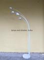 marble metal arc 5arms floor lamp 2