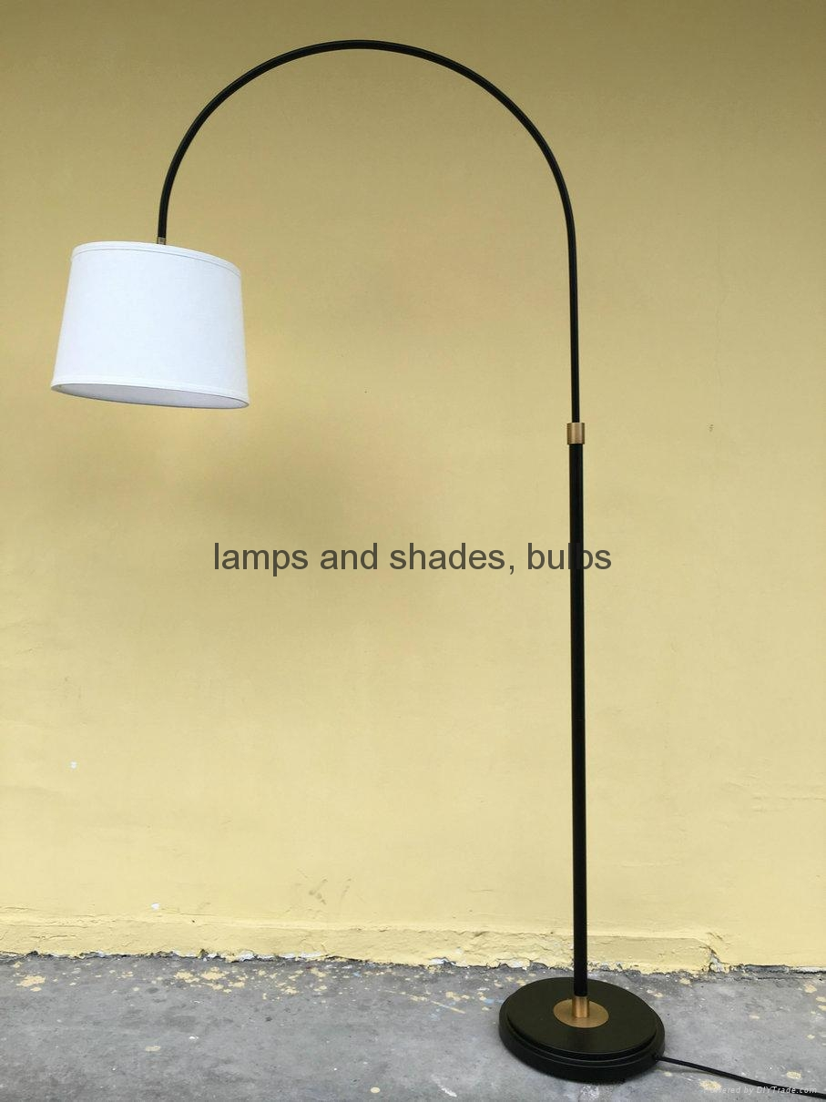 metal wood fishing floor lamp 5