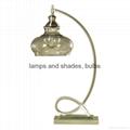 modern metal and glass table lamp
