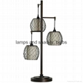fashional metal lantern table lamp
