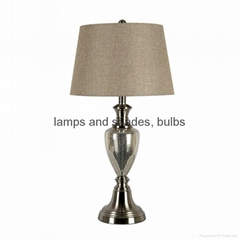Traditional table lamp and floor lamp set