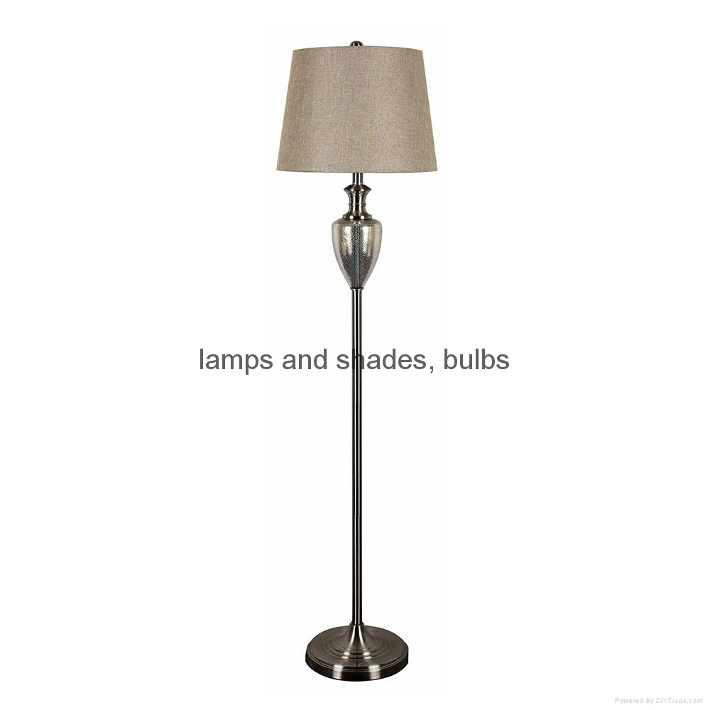 Traditional table lamp and floor lamp set    2
