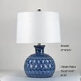 cheap blue ceramic table lamp
