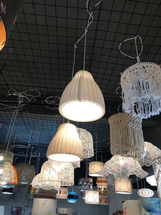 pendant lamp with hand knitting yarn 1