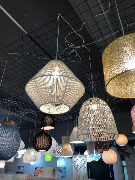 pendant lamp with hand knitting yarn 2