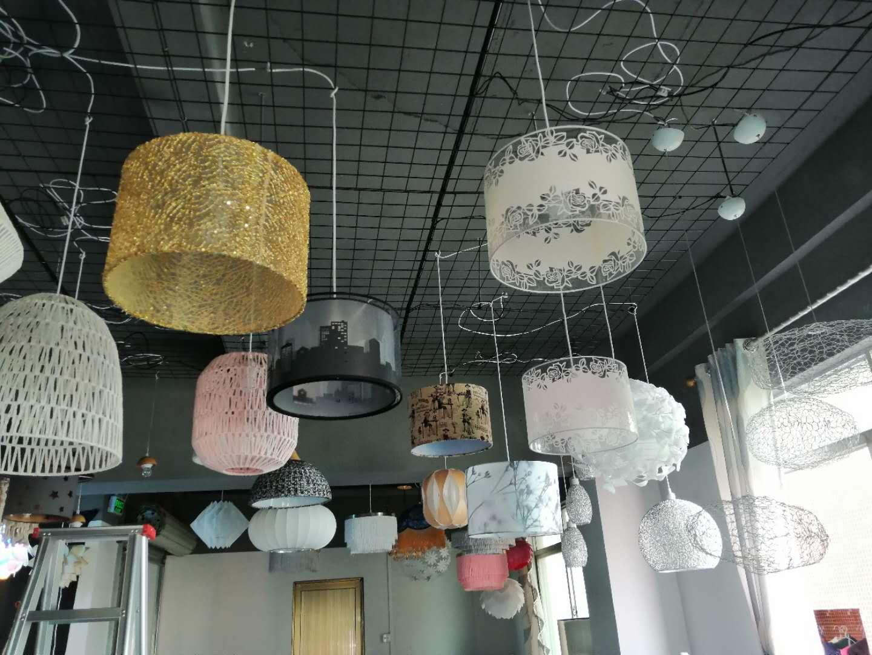 pendant lamp with hand knitting yarn 3