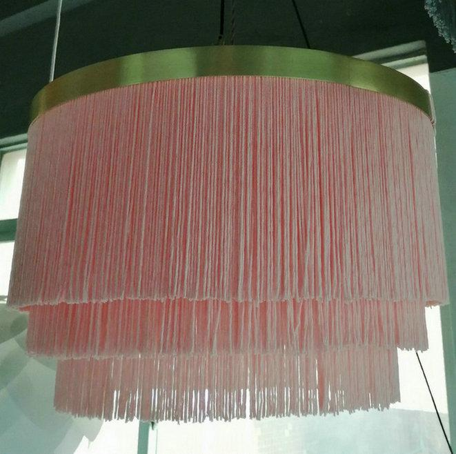 Pendant Lamp with 3 Layer Fringe Lamp Shade 1