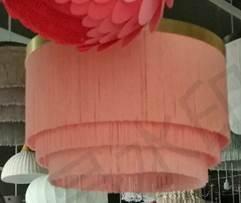 Pendant Lamp with 3 Layer Fringe Lamp Shade 4