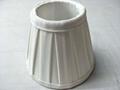 Box pleated shantung fabric lamp shade