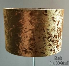 Velvet fabric lampshade
