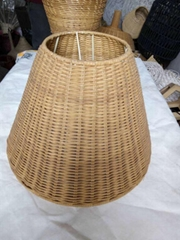 Antique rattan hand-weaved lampshade for table lamp