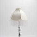 European Fabric lampshade with fringe
