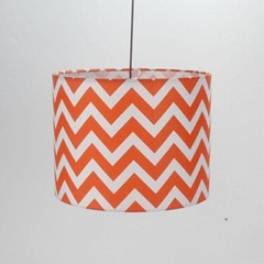 Round fabric printed hardback lampshade wholesale