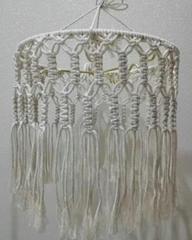 Modern macrame handmade lampshade