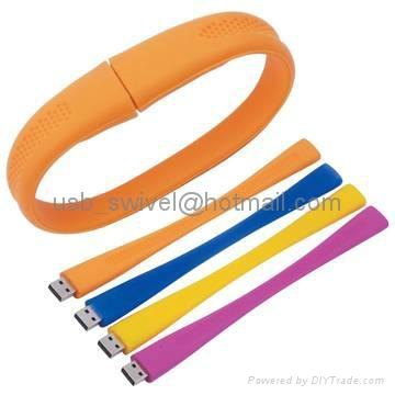 wristband Silicone usb flash drive 3