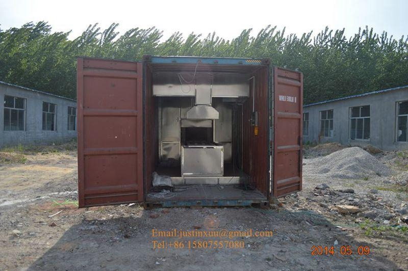 crematorium movable on wheel integrated burning chamber body human crematory