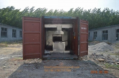 movable cremate machine crematorium incinerator mobile crematory on truck lorry