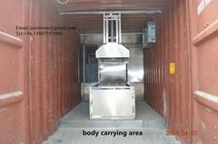 cremation machine movable crematory crematorium lorry trailer