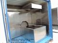 Máquina crematorio automático con rueda humanos para